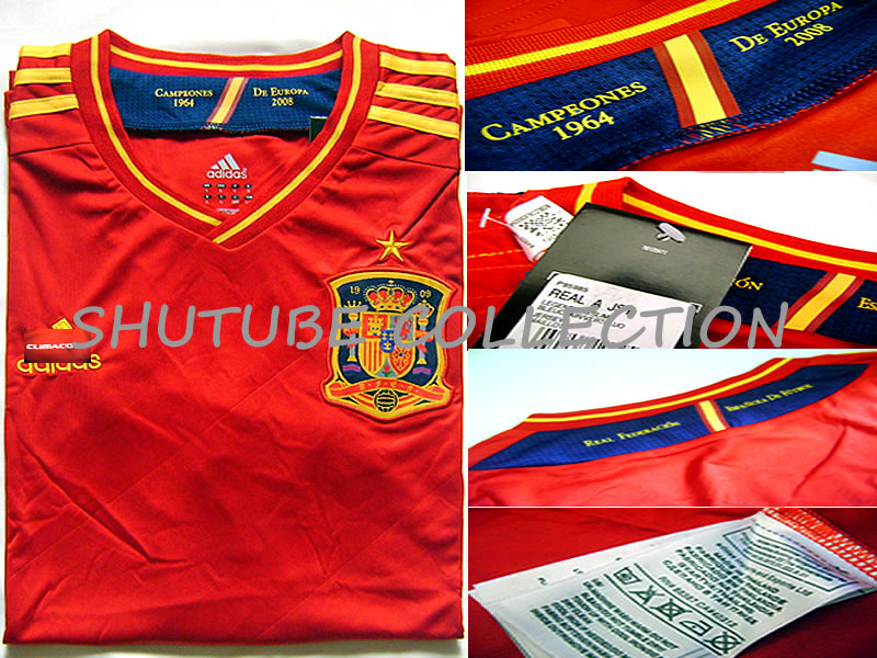 Spain jersey home euro 2012 real a jersey s m l xl