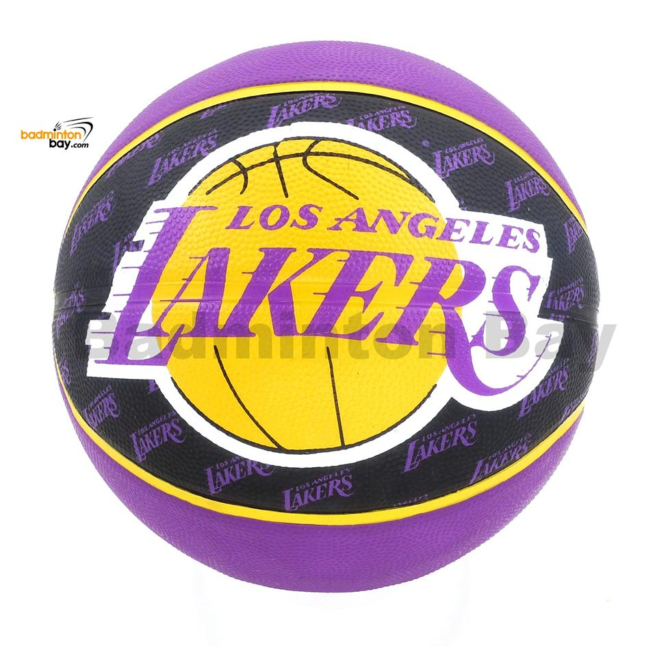 Spalding NBA LA Los Angeles Lakers Purple Black Outdoor Basketball