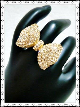 Sparkling Bow Ring (Free Shipping)