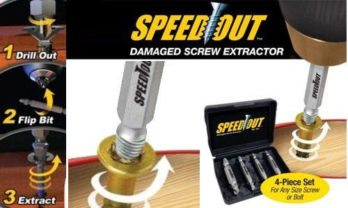 [SPEEDOUT] Damaged Screw Remover Extractor Tool Speedout