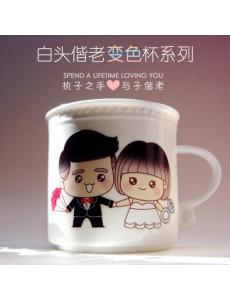 Spend Lifetime Loving You Color Changing Cup Romantic Wedding Gift