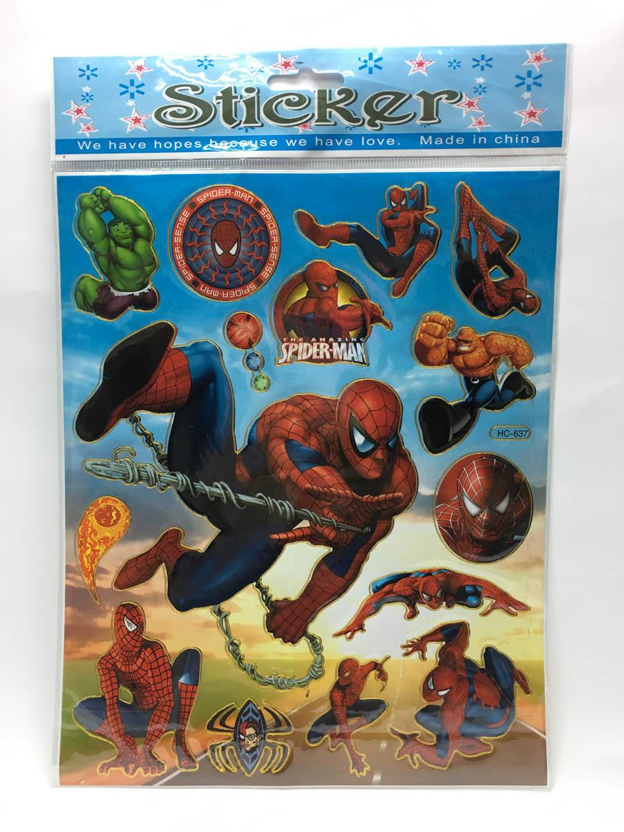 Spiderman Stickers X 10 piece