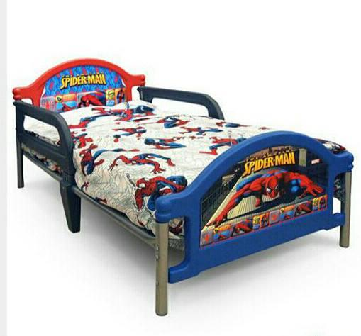 Spiderman Toddler Bed Mattress EXCLUDED Johor End