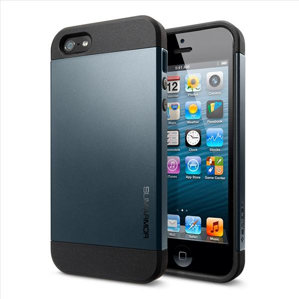 SPIGEN SGP Apple iPhone 5 Case Slim Armor - Metal Slate