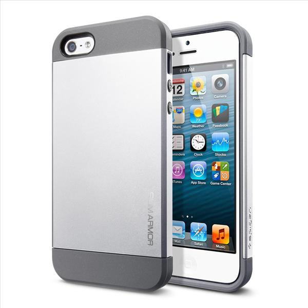 SPIGEN SGP Apple iPhone 5 Case Slim Armor - Satin Silver