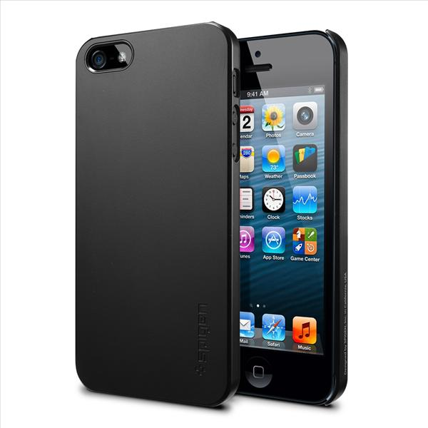 SPIGEN SGP Apple iPhone 5 Case Ultra Thin Air - Smooth Black