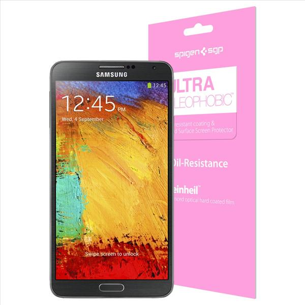 SPIGEN SGP Galaxy Note 3 Screen Protector Steinheil Ultra Oleophobic