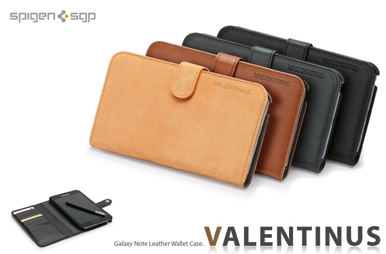 SPIGEN SGP Galaxy Note Leather Wallet Case Valentinus Dark Green