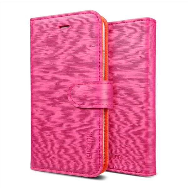 SPIGEN SGP iPhone 5 Leather Wallet Case illuzion - Manderine Rosa