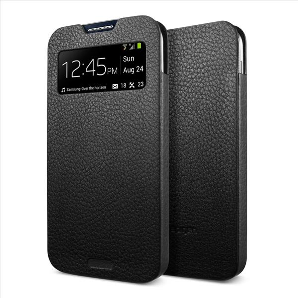 SPIGEN SGP Samsung Galaxy S4 Leather Pouch Crumena View Black