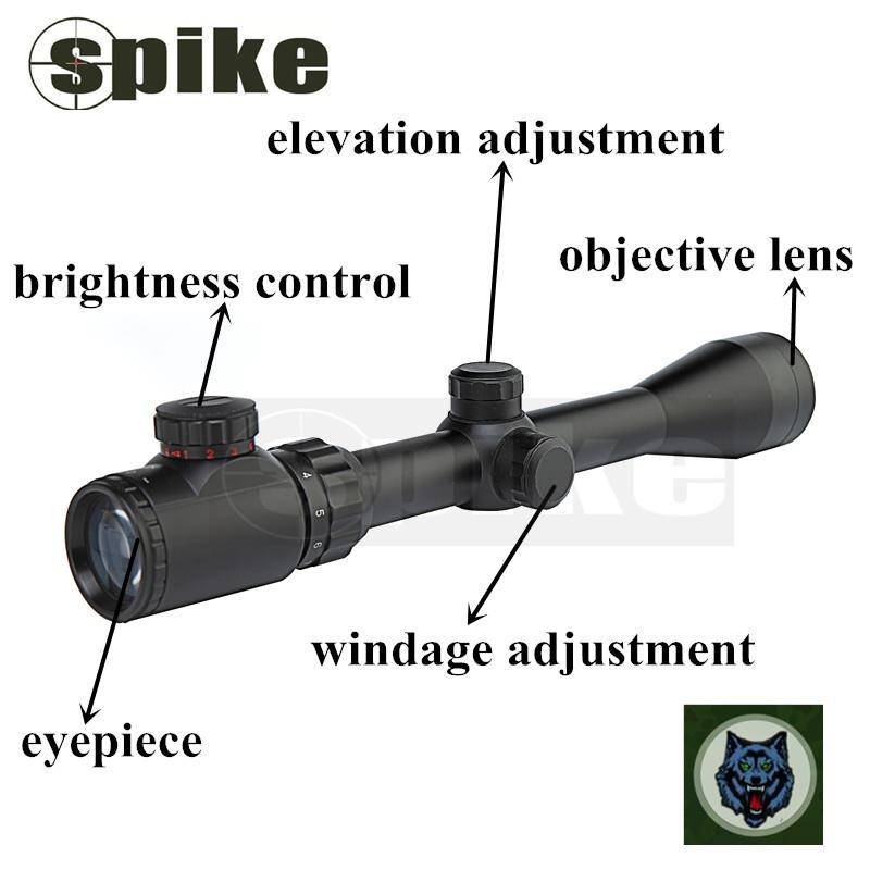 SPIKE Shockproof Rifle Scope 3-9X40EG