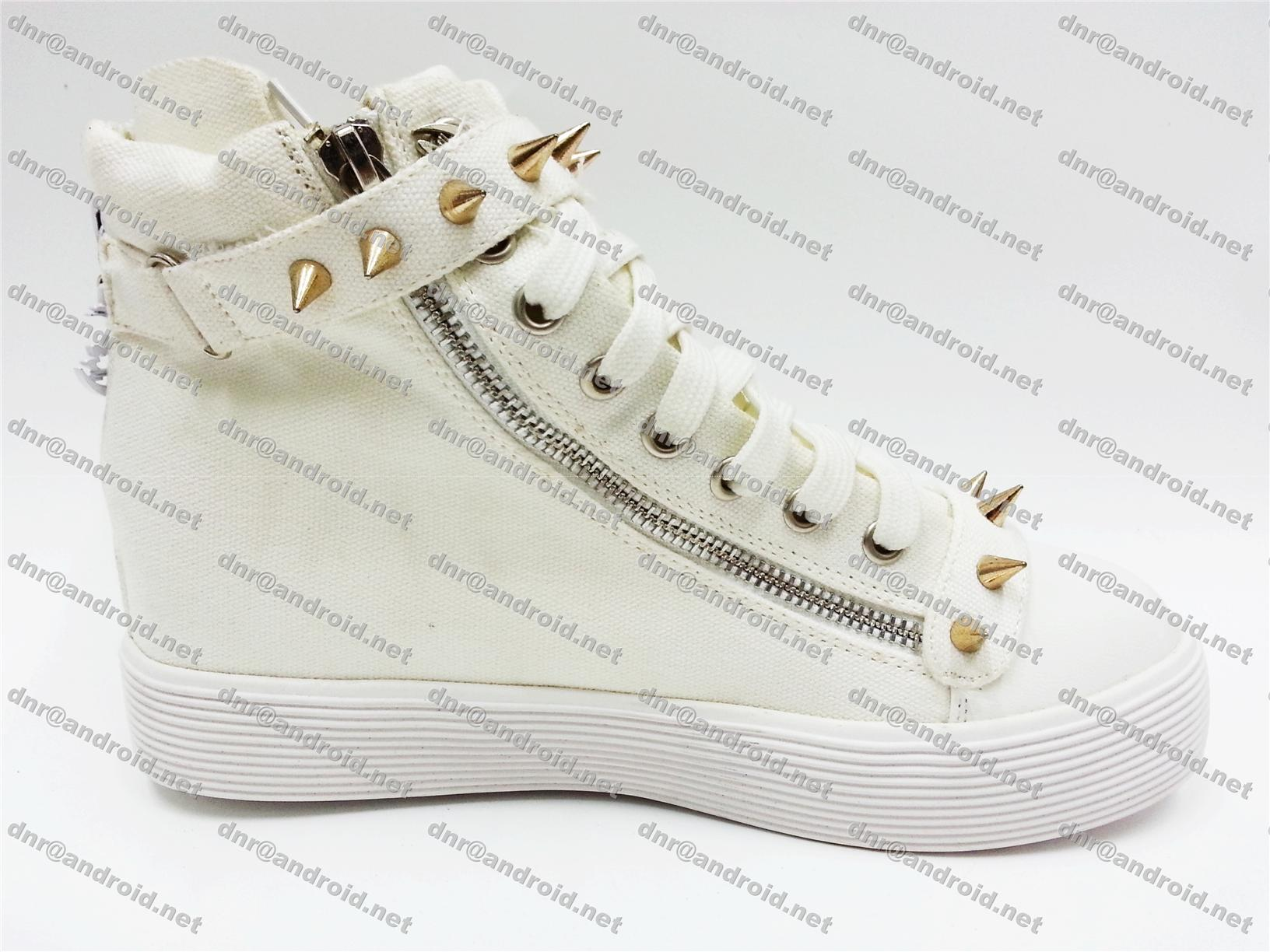 Korean Shoes High Tops Girls Spiky High Top Canvas Shoes