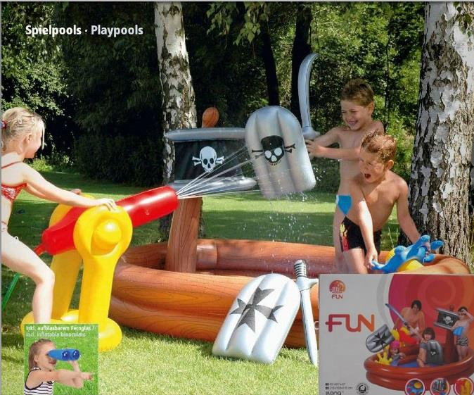 Splash play inflatable pirate ship end 6 22 2017 4 15 pm - Inflatable pirate ship swimming pool ...
