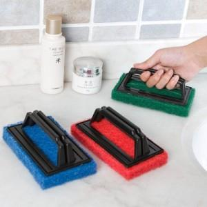 Sponge Base with Handle Strong Cleaning Brush