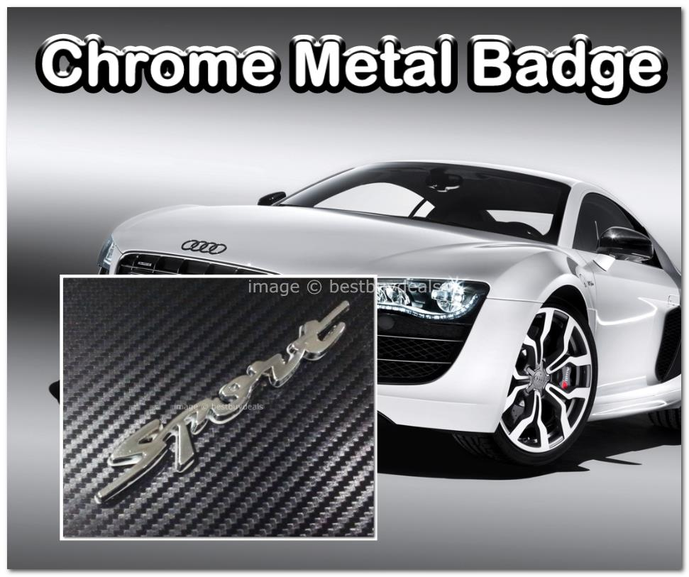 Sport Metal Alloy 3D Chrome Car Badge Decal Emblem Trunk Side Logo Ins