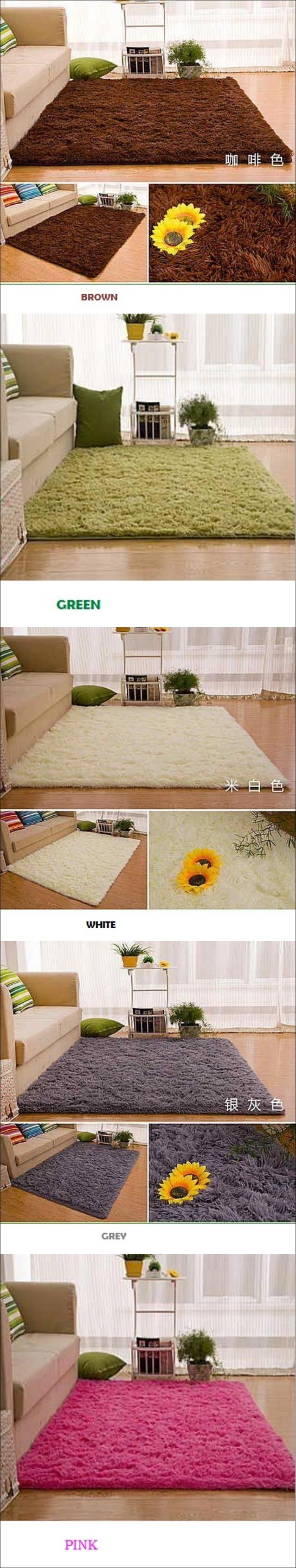 SQUARE SHAGGY SOFT COMFORTABLE COLORFUL HOUSE OFFICE CARPET ROOM LB