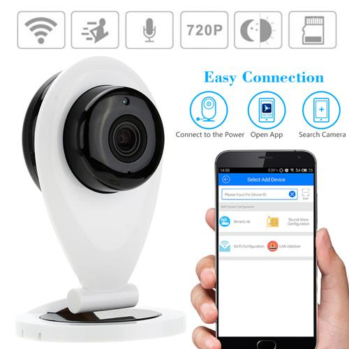 SRICAM SP09 720p Night Vision WiFi P2P IP CCTV Camera