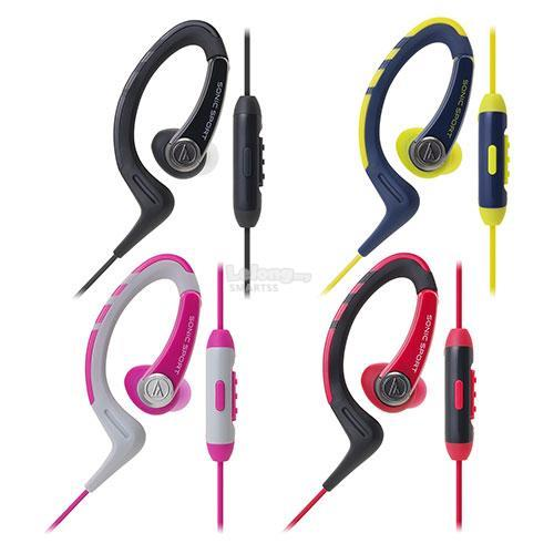 ST. AUDIO TECHNICA EARSET WIRED ATH-SPORT1iS BLK/PNK/NY/RED