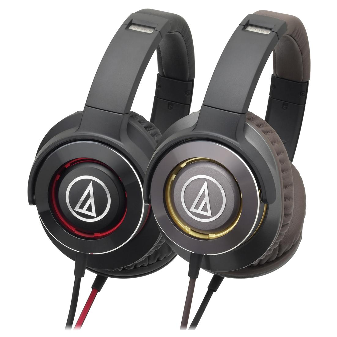 ST. AUDIO TECHNICA HEADSET WIRED ATH-WS770 BLACKRED/GUNMETAL