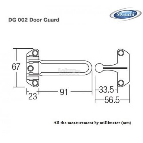 St Guchi DG002 Door Guard Door Stopper Door Latch