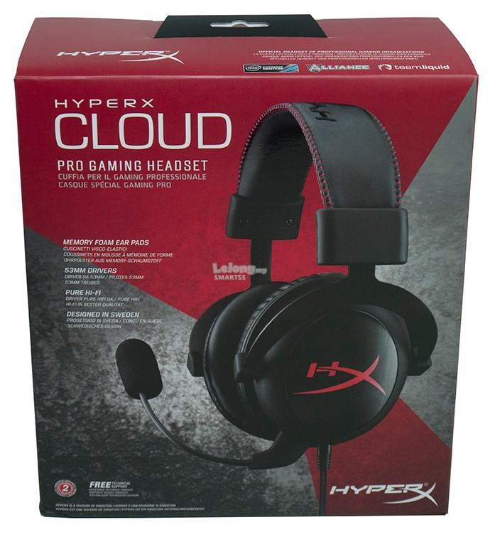ST. KINGSTON HEADSET WIRED HYPER-X GAMING CLOUD PRO KHX-H3CL/WR BLACK