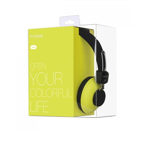 ST. MARVO HEADSET WIRED HP-1008 YELLOW/PINK/BLUE/BLACK