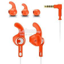ST. PHILIPS EARSET WIRED ACTION FIT SHQ1300 ORANGE/PINK/LINE