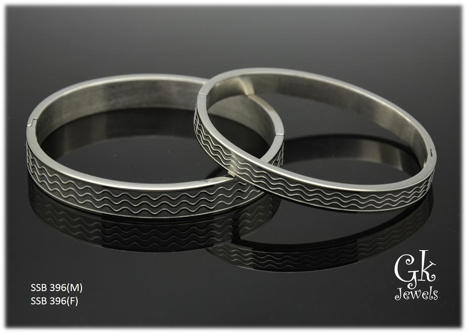 Stainless steel couple Bangle SSB 396