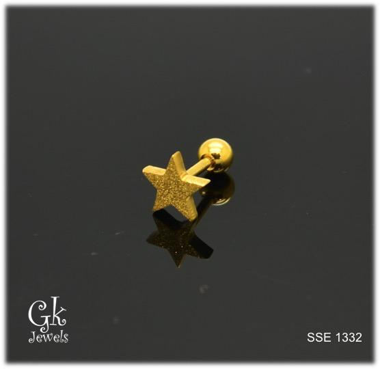 Stainless steel Earring SSE 1332 (one piece)
