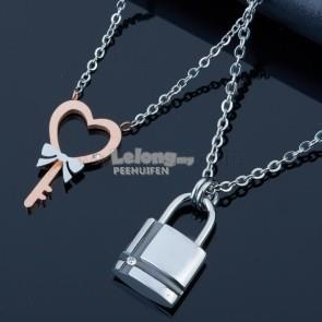 STAINLESS STEEL FASHION COUPLE NECKLACE
