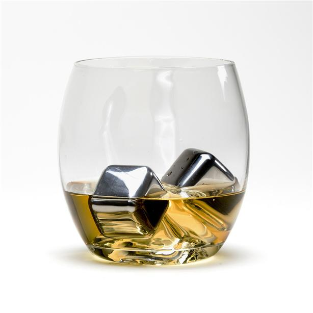 Stainless Steel Ice Cubes 8 Piece Set with Tray and Tongs Cold Drink
