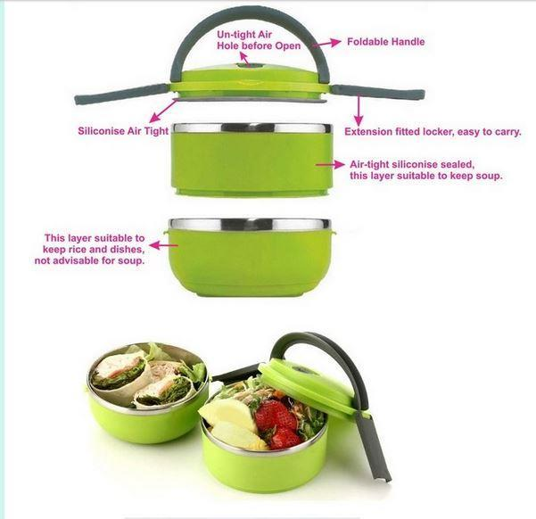 Stainless Steel Lunch Box - Vacuum Insultted + FREE GIFT