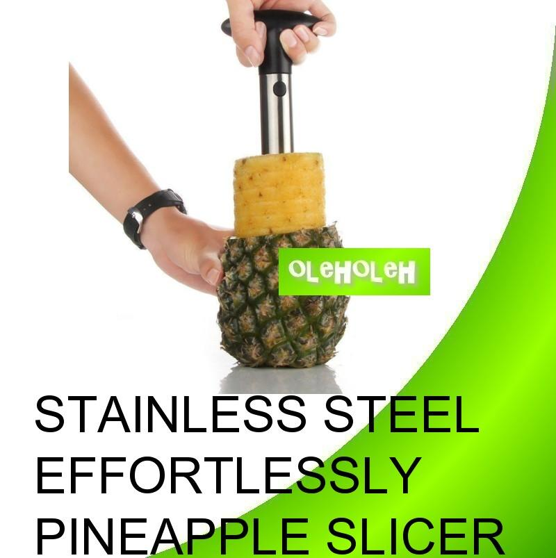 Stainless Steel Pineapple Corer Slicer Effortlessly Corer and Slices