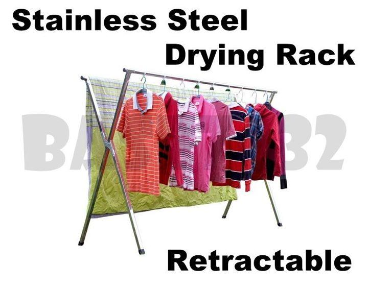 Stainless Steel Retractable Cloth Stretchable  Drying Rack Hook