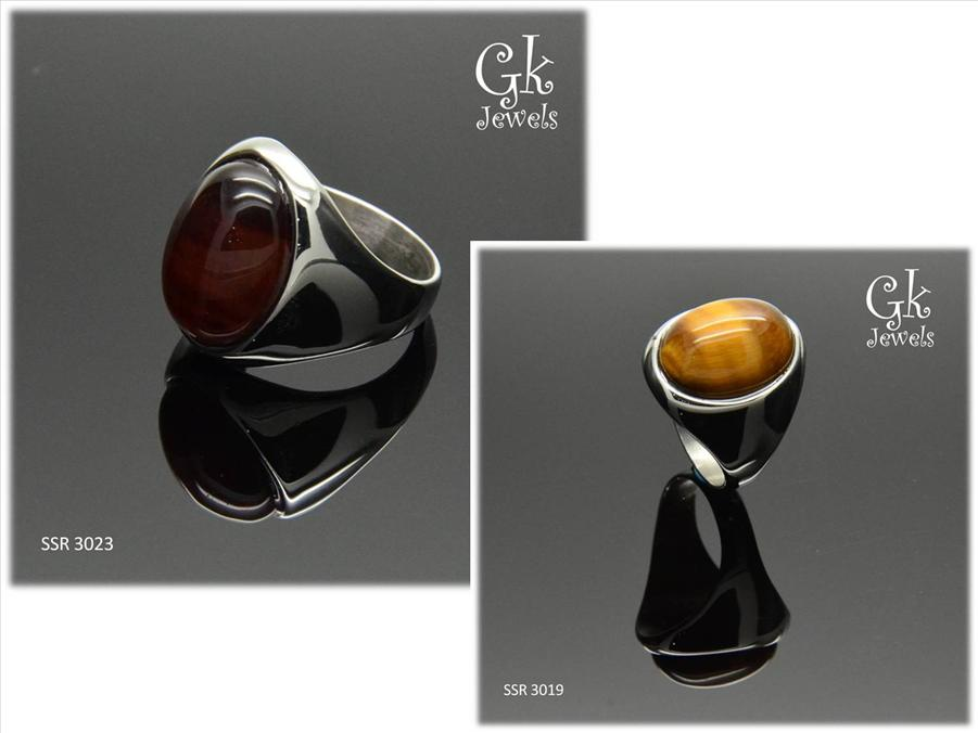 stainless steel tiger eye ring SSR 3019, SSR 3023
