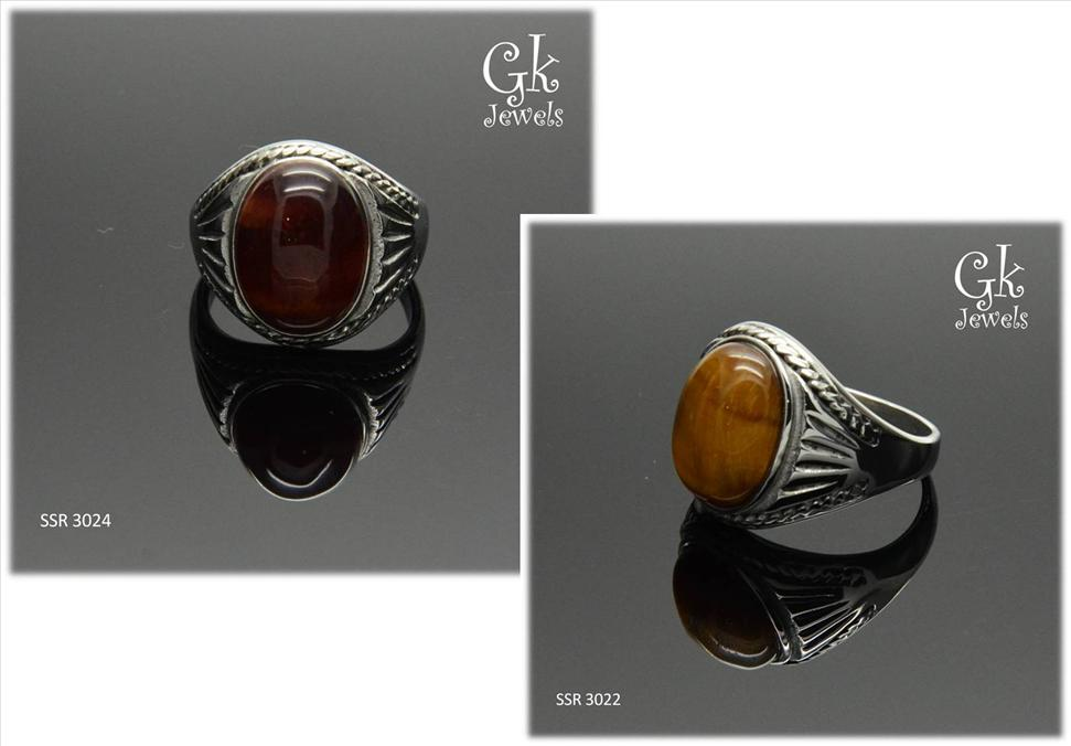 stainless steel tiger eye ring SSR 3022, SSR 3024