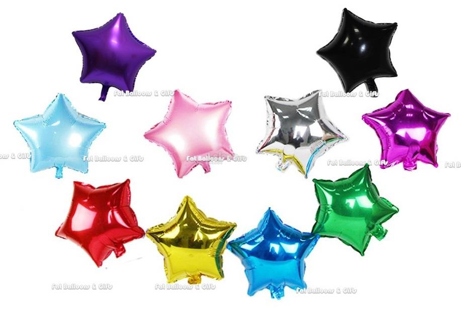 Star Shape Foil Balloon Pink/Red/Blue Foil Balloons 18 inch