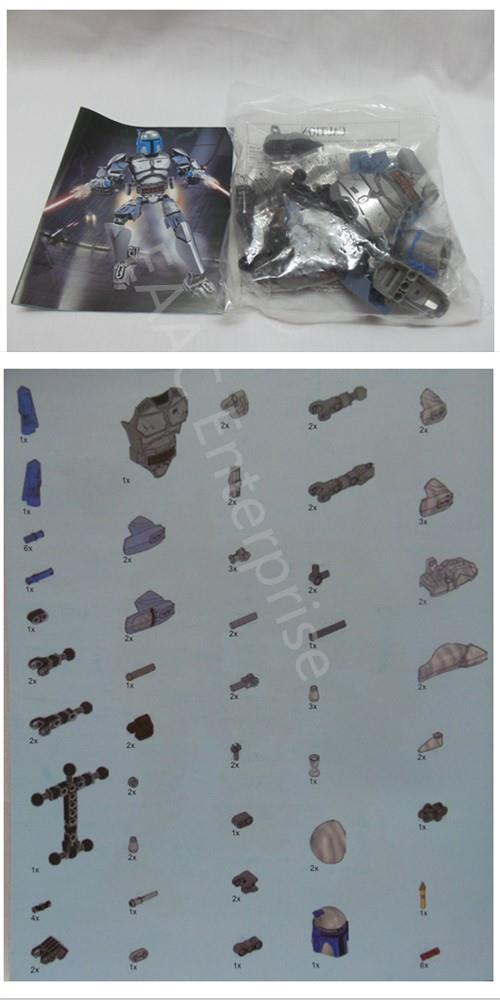 Star Space Wars Jango Fett Brick Building Blocks Compatible Lego