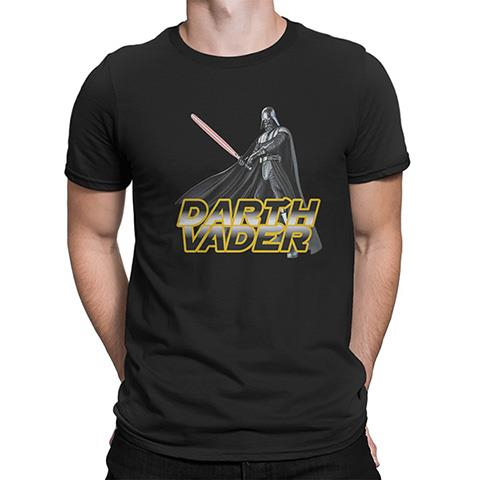Star Wars Darth Vader Design 1 Men's Custom Design Cotton T-Shirt