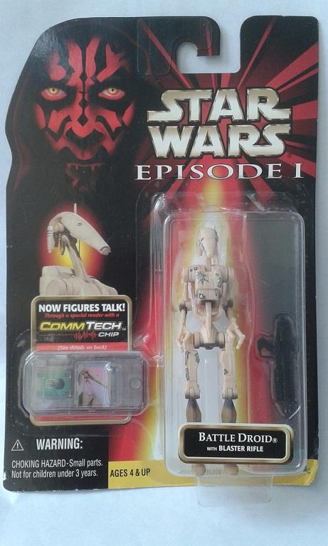 Star Wars Episode 1 Battle Droid (Blaster Rifle) MISB