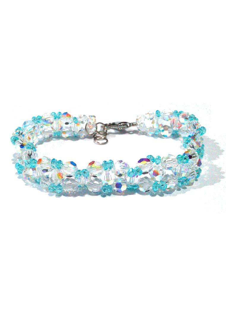 Starry Night Swarovski Round Crystal AB Bracelet