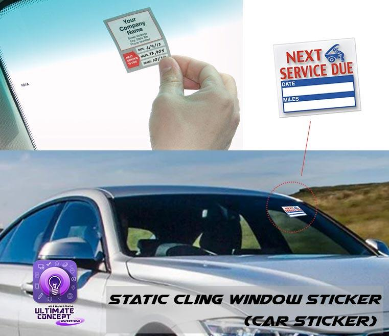 Static Cling Window Sticker Car Service Sticker 100pcs(Car Sticker)