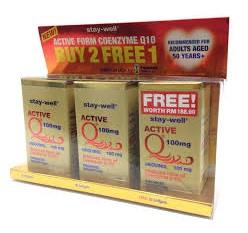 Stay-Well Active Co-Q10 100mg 2 x 30S FOC 30S