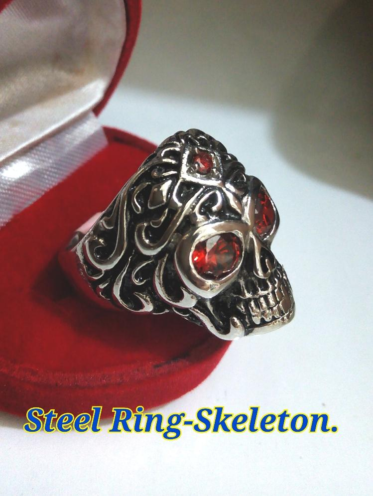 Steel Ring For Man-#12-skeleton