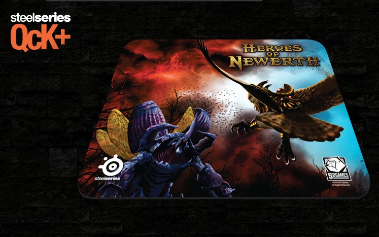 STEELSERIES QCK+ HEROES OF NEWERTH EDITION GAMING MOUSE PAD (67217)