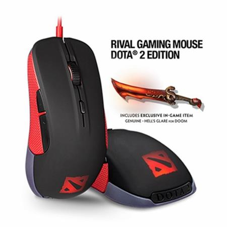 SteelSeries Rival 100 Optical Mouse (Dota 2 Special Edition)