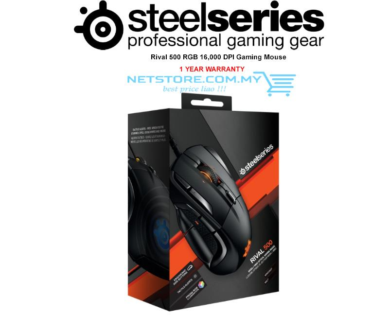 SteelSeries Rival 500, RGB Optical MMO MOBA Gaming Mouse 62051