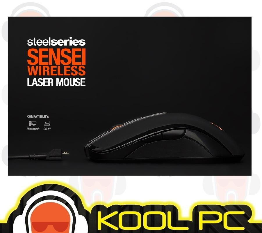 SteelSeries Sensei WIRELESS Laser Mouse 62250 - Black