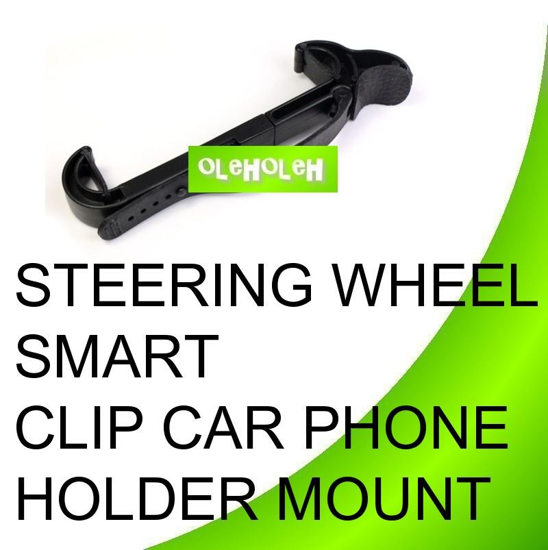 Steering Wheel Smart Clip Car Phone Holder Mount