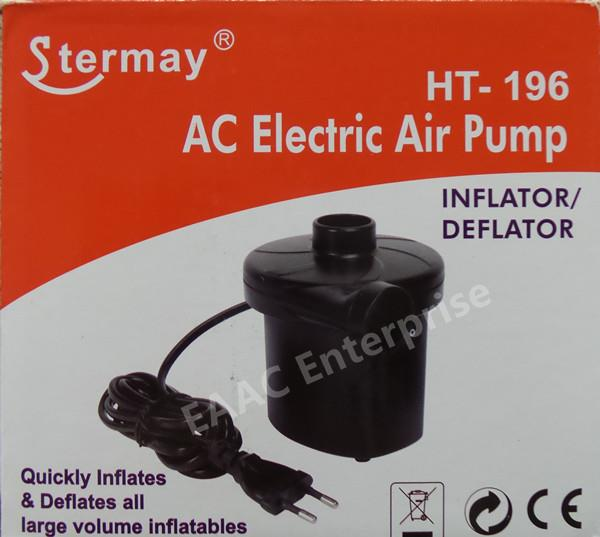 Stermay AC Electric Air Pump Inflator / Deflator HT-196 for Air Bed